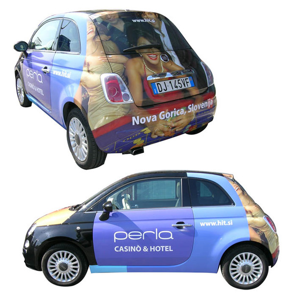 Wrapping decorazione integrale Fiat 500